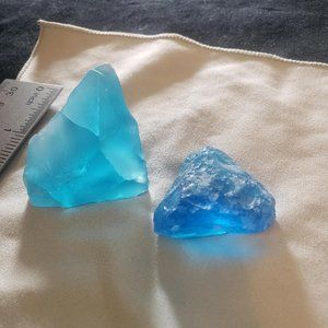 Sapphire Blue Crystals Sea Glass Gemstones